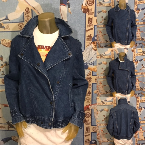 Vintage Jackets & Blazers - Amazing Vintage Denim Jean Jacket Pop Collar